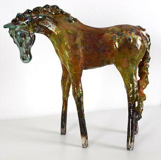 LINDSEY EPSTEIN, Copper Raku Horse