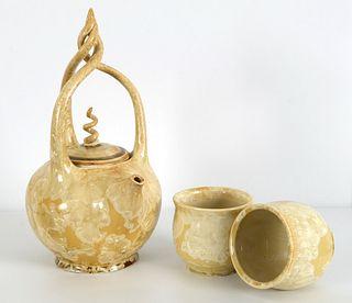 LINDSEY EPSTEIN, Gold Crystalline Prayer Teapot Set