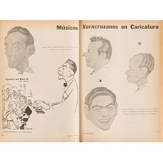 Pasquel, Leonardo (Director). Revista Jarocha. México: Editorial Citlaltépetl, 1960 - 1968. Piezas: 9.