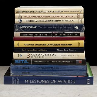 Libros sobre aviación. La Aviación Civil en México / Alas Mexicanas / Historia de los Aeropuertos de México. Piezas: 12.