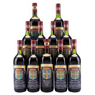 Lote de Vinos Tintos de Italia. Colombini. Barbi. En presentaciones de 750 ml. Total de Piezas: 7.
