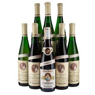 Lote de Vinos Blancos de Alemania. Mosel-Saar-Ruwer. Zeltinger Himmelreich. Alemania. En presentaciones de 750 ml. Total de piezas: 8.