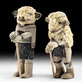 Important 20th C. Hopi Sheep Kachinas,  Jimmy Koots