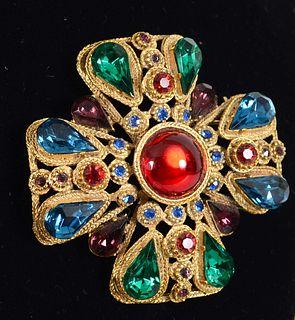 UNKOWN ARTIST, Vintage Maltese Cross Brooch