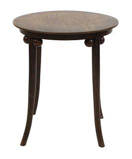A Thonet Jugendstil bentwood side table,