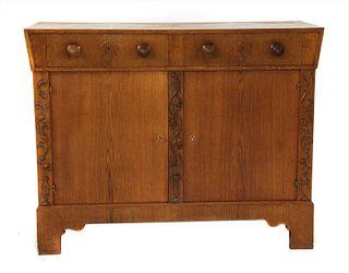 A Viennese oak sideboard,