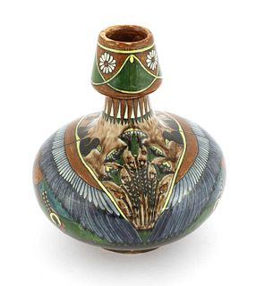A Faience de Purmerende vase,