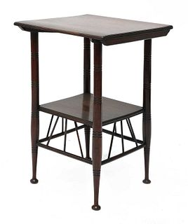 An Aesthetic Movement 'Thebes' mahogany side table,