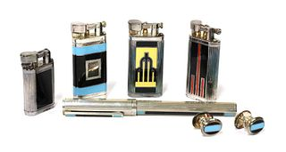 A collection of gentlemen's Dunhill lighters,
