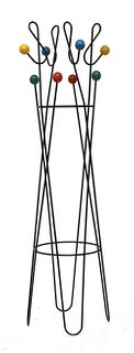 An 'Atomic' wrought iron coat stand,