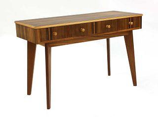 A walnut dressing table,