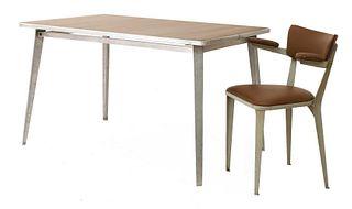 A BA desk table and an armchair,