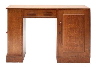 An oak desk,