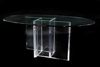 A Lucite centre table,