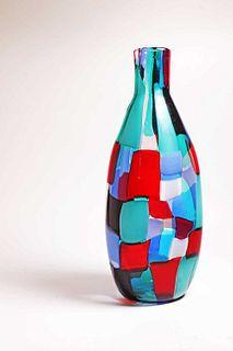 A Venini 'Pezzato Arlecchino' vase,