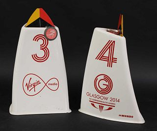 Two track lane markers,