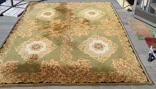 Semi antique Savonnerie carpet Louis XVI design