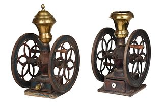 Two Iron and Brass Coffee Grinders