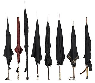 Group of Eight Parasols