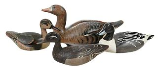 Four Painted Duck Decoys