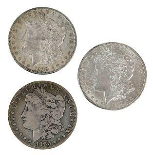 135 Silver Dollars, Mostly Morgan