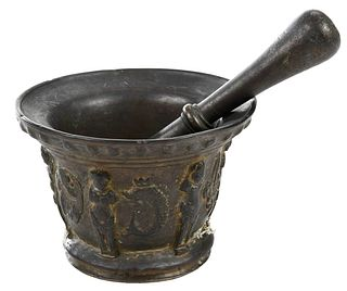 French Bronze Mortar and Pestle