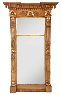 Very Large American Classical Giltwood Pier Mirror