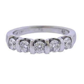 GSI Certified Leo Schachter Diamond  Wedding Band Ring