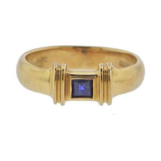 Vintage Tiffany & Co 18K Gold Sapphire Band Ring