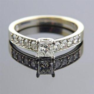The Leo Platinum 14k Gold Diamond Engagement Ring