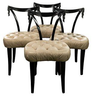 (Attributed to) Grosfeld House Tassel Motif Chair Set