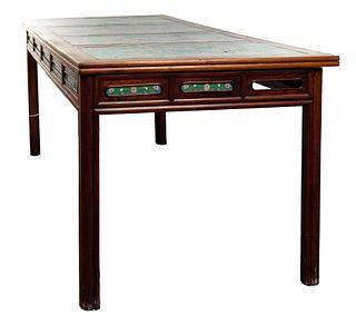 Asian Cloisonne Panel Table