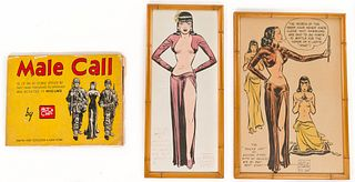 Milton Caniff 'Male Call' and Signed Print Assortment
