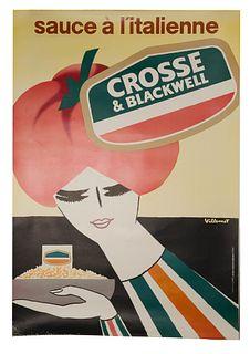 Bernard Villemot (French, 1911-1989) 'Sauce a l'Italienne' Poster