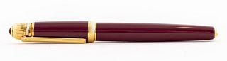 Cartier Paris 'Pasha' Gold Plate Fountain Pen