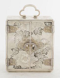 Japanese Silver Kodansu Jewelry Box