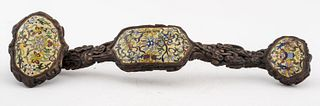 Chinese Ruyi Scepter w/ Cloisonne Panels