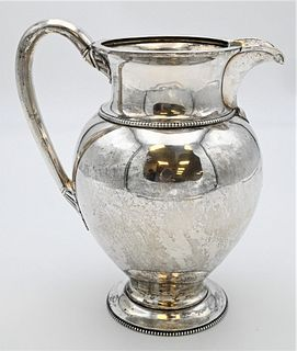 Tiffany Sterling Silver Pitcher  marked Tiffany and Co. Gold and Silversmith's 550 Broadway height 9 1/2 inches 23.7 t.oz.