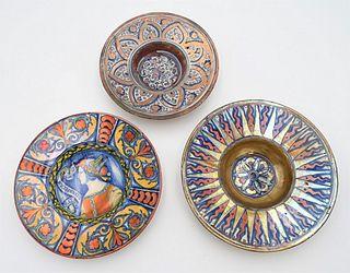 Four Piece Polychrome Pottery Lot