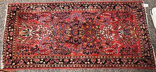 "Sarouk Oriental Rug 2' x 4' 2"""