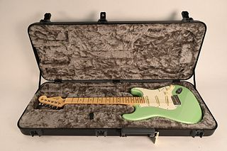 Fender Stratocaster Guitar serial number US17079005 2017 American Professional limited edition mystic sea foam and hard shell case excellent condition