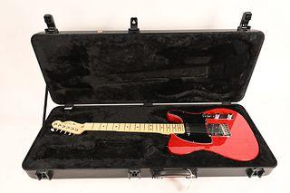 Fender Telecaster Guitar serial number US13043771 2013 Telecaster transparent crimson red  original hard shell case excellent used condition