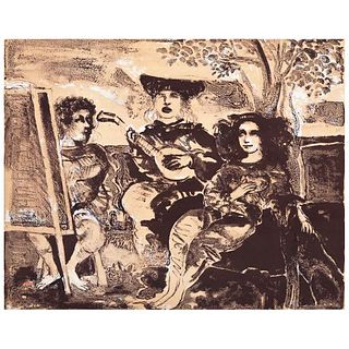 FRANCISCO CORZAS , Sin título, Firmada y fechada 73 Litografía 70 / 130, 41 x 52.5 cm | FRANCISCO CORZAS , Untitled, Signed and dated 73 Lithograph 70