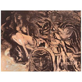 FRANCISCO CORZAS, Sin título, Firmada y fechada 82 Litografía 18 / 150, 60 x 80 cm | FRANCISCO CORZAS, Untitled, Signed and dated 82 Lithography 18 /
