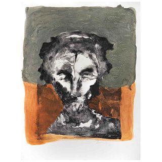FRANCISCO CORZAS, Sin título, Firmada y fechada 73 Litografía sin número de tiraje, 65 x 51 cm | FRANCISCO CORZAS, Untitled, Signed and dated 73 Litho