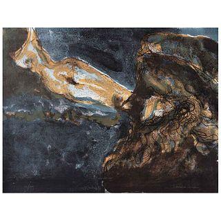 FRANCISCO CORZAS, Nocturno, Firmada y fechada 82, Litografía 25 / 150, 60 x 78 cm | FRANCISCO CORZAS, Nocturno, Signed and dated 82, Lithography 25 /