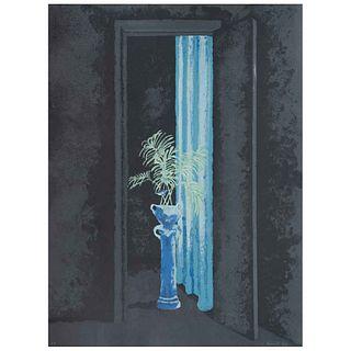 JUAN SORIANO, Sin título, de la serie Ventanas, Firmada y fechada 84, Serigrafía P. A., 76 x 56 cm | JUAN SORIANO, Untitled, from the series Ventanas,
