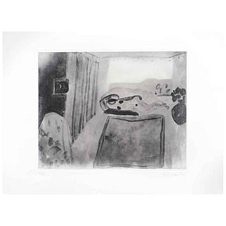 JOY LAVILLE, Sin título, Firmado, Grabado al aguatinta a aguadas 17/30, 20 x 25 cm | JOY LAVILLE, Untitled, Signed, Aquatint engraving in gouache 17/3