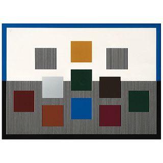 JESÚS RAFAEL SOTO, Composition, circa 1980, Firmada Serigrafía E. A., 53.5 x 73.5 cm | JESÚS RAFAEL SOTO, Composition, circa 1980, Signed, Serigraph E