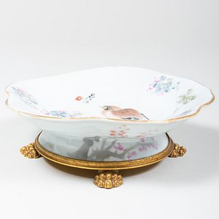 Chinese Footed Bowl Mounted to a Nicolas Haydon Ormolu Stand